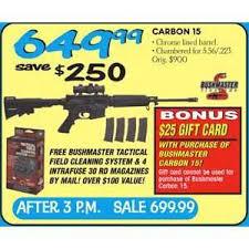 dunhamssports com black friday bushmaster carbon 15 w 25 gift card 649 99 valid on black