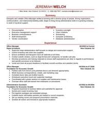office manager resume template office manager resume sle resume template info