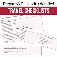 Detailed travel checklists prep pack must have travel