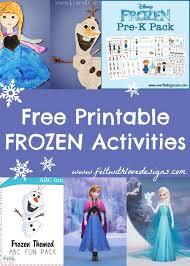 love free frozen printable crafts activities