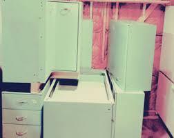 vintage metal kitchen cabinets metal kitchen cabinets etsy