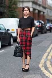 plaid skirt gets grungy well plaid the fashion tag