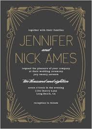 art deco wedding invitations match your color u0026 style free