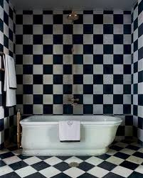 Black And White Floor Rug Black White Checkerboard Wood Floor Graphic Zig Zag Bathroom Rug