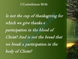 1 corinthians 10 16 the cup of thanksgiving powerpoint church