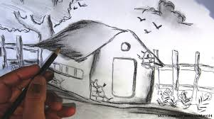 pencil drawing of scenery for kids how to draw a simple scenery