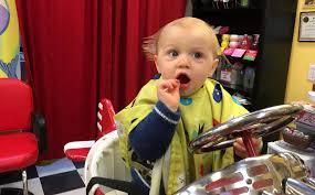 the yellow balloon baby u0027s first haircut