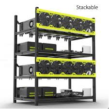 veddha 8 6 gpu mining rig aluminum stackable open air frame