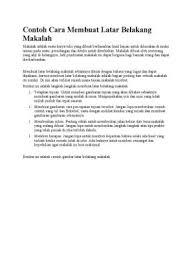 membuat latar belakang kti kupdf com contoh cara membuat latar belakang makalah pdf documents
