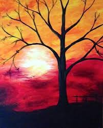 canvas painting ideas trees wine and canvas so excited to be doing