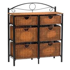 online store 6 drawer storage chests organizer woven wicker