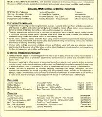 Custodial Engineer Resume Resumes Krvc