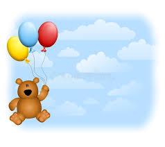 teddy balloons teddy balloons sky stock illustration illustration of