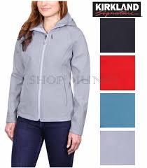 women kirkland signature 4 way stretch weatherproof softshell