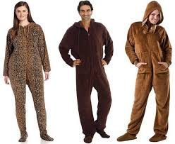 brown footed pajamas for adults choozone