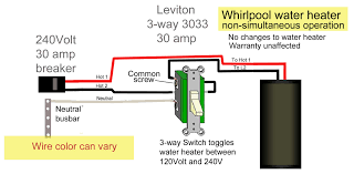 how to wire water heater with two switches use amp way switch