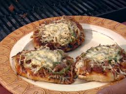 grilled bbq pizza recipe the neelys food network