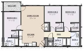 Park Central Floor Plan College Station Apartment In Tuscaloosa Al