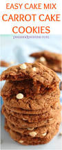 carrot cake mix cookies are one of the easiest and most delicious
