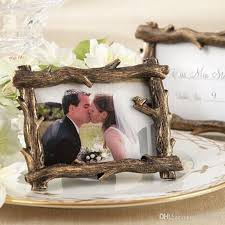 picture frame wedding favors vintage rustic scenic view tree branch resin photo frame place