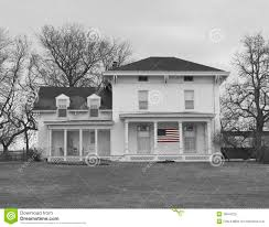 old farm house in black and white royalty free stock photo image