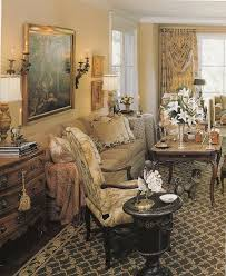 French Country Livingroom by Impeccable Detail Again Fabrics Books Collections And Cosy French
