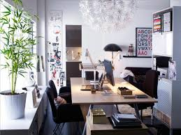 Office Space Design Ideas Scandinavian White Red Home Office Space Interior Design Ideas