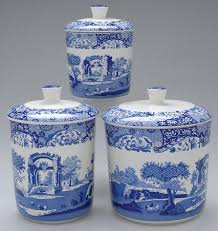 blue and white kitchen canisters 3 pc canister set spode blue italian camilla newer at