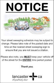 Los Angeles Street Cleaning Map by Street Sweeping Changes City Of Lancaster