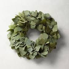 eucalyptus wreath silver dollar eucalyptus wreath williams sonoma