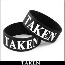 black bracelet rubber images Taken designer rubber saying bracelet jpg