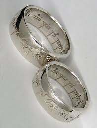 elvish wedding rings wedding rings the elvish engraving says one ring to show our