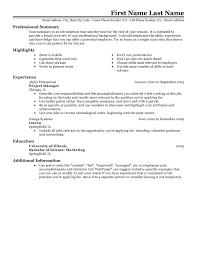 Resume For Internal Position Job Resume Formats