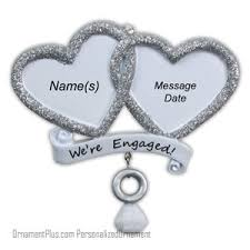 buy silver engagement ornament personalized ornament from