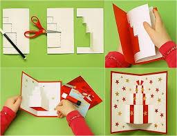 pop up karte mit geschenkmotiv selber basteln basteln