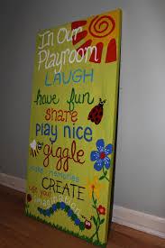 playroom rules playroom art kids room art custom playroom sign