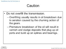 standard transmission servicing ppt download