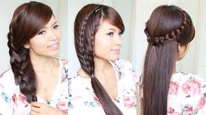 brunette easy hairstyles different hairstyles center parted for long straight thin hair women