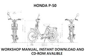honda p50 p 50 workshop manual free download