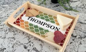 personalized photo serving tray personalized custom serving tray qualtry