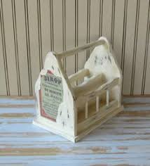 Shabby Chic Napkin Holder by This Vintage Toleware Napkin Holder Is Made Of Wood It Is A