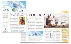 Free Church Newsletter Template christian church newsletter template word publisher