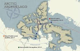Arctic Circle Map Archaeologists To Resume Search For Sir John Franklin U0027s Hms Terror