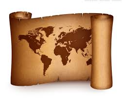 Old World Map Wallpaper by Old World Map On Vintage Paper Scroll Psdgraphics