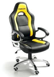 chaise bureau baquet chaise bureau baquet fauteuil de bureau baquet stanley jaune et noir