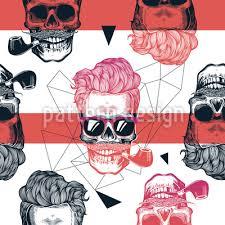 Cool Looking - looking skull repeat
