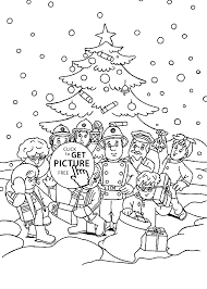 fireman sam christmas coloring pages for kids printable free