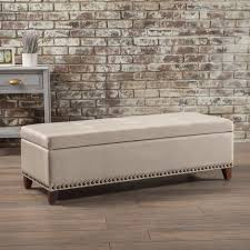 alcott hill bluford fabric storage ottoman u0026 reviews wayfair