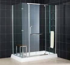 bathroom glass shower ideas innovative bathroom ideas small glossy black ceramic floor tile