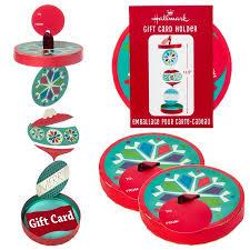 hallmark 4 pack snowflake ornament gift card holders